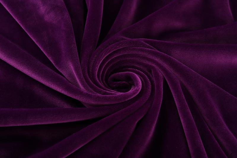 Одна сторона - темно-фиолетовая ткань Супер мягкий