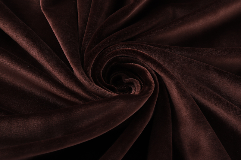 Односторонняя сторона - Темно-кофейная ткань Супер мягкий