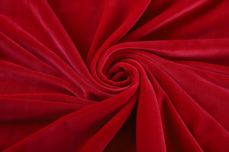 Односторонний - ярко-красная ткань Супер мягкий
