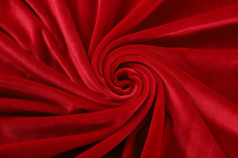 Двусторонняя ткань Красный Суперсофт
