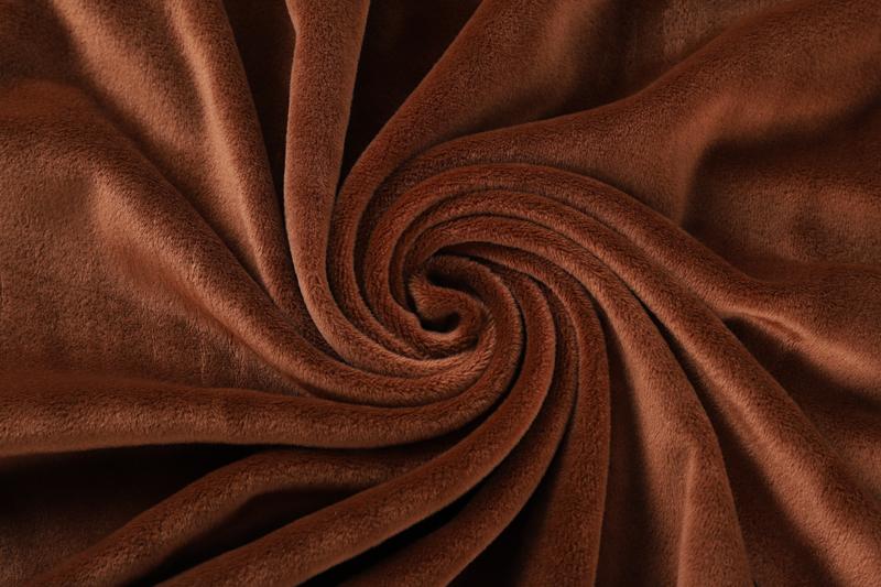 Двусторонняя ткань кофе Супер мягкий