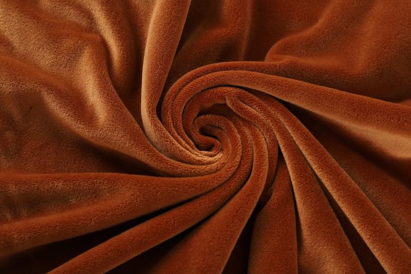 Двусторонняя - желто-коричневая ткань Супер мягкий