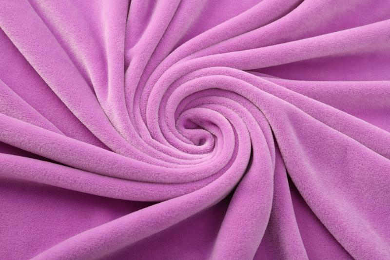 Двусторонняя - светло-фиолетовая ткань Супер мягкий