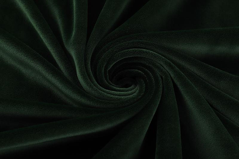 Двусторонняя - темно-зеленая ткань Супер мягкий